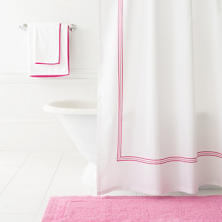 Trio Fuchsia Shower Curtain