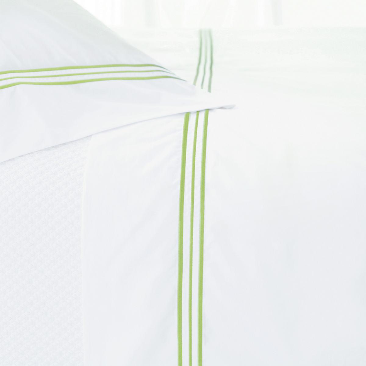 Trio Green Pillowcases (Pair)