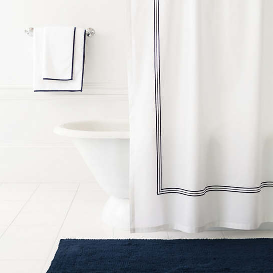 Trio Indigo Shower Curtain