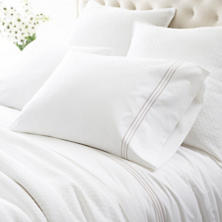 Trio Pearl Grey Pillowcases (Pair)