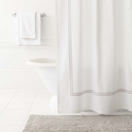 Trio Pearl Grey Shower Curtain
