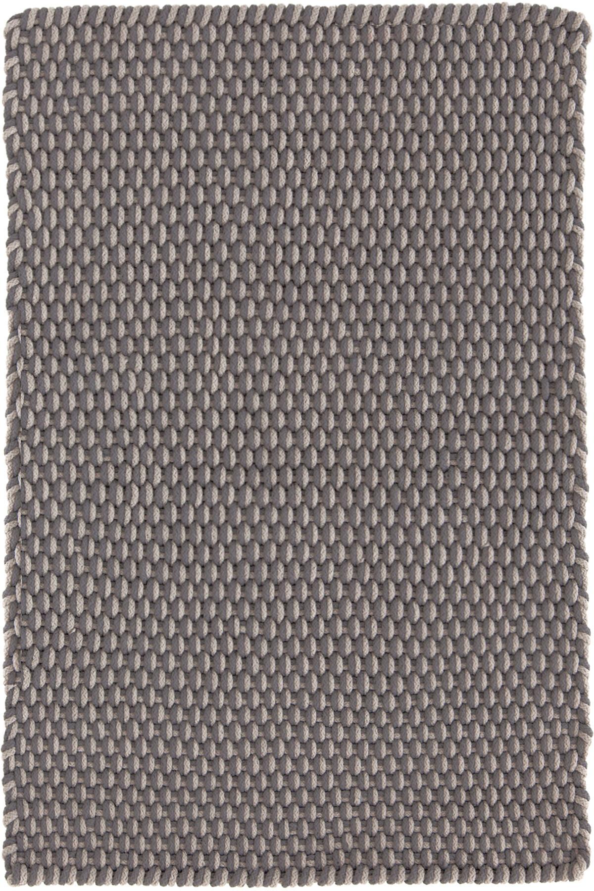 Two-Tone Rope Graphite/Fieldstone Indoor/Outdoor Rug