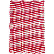 Two-Tone Rope Red/White Indoor/Outdoor Rug