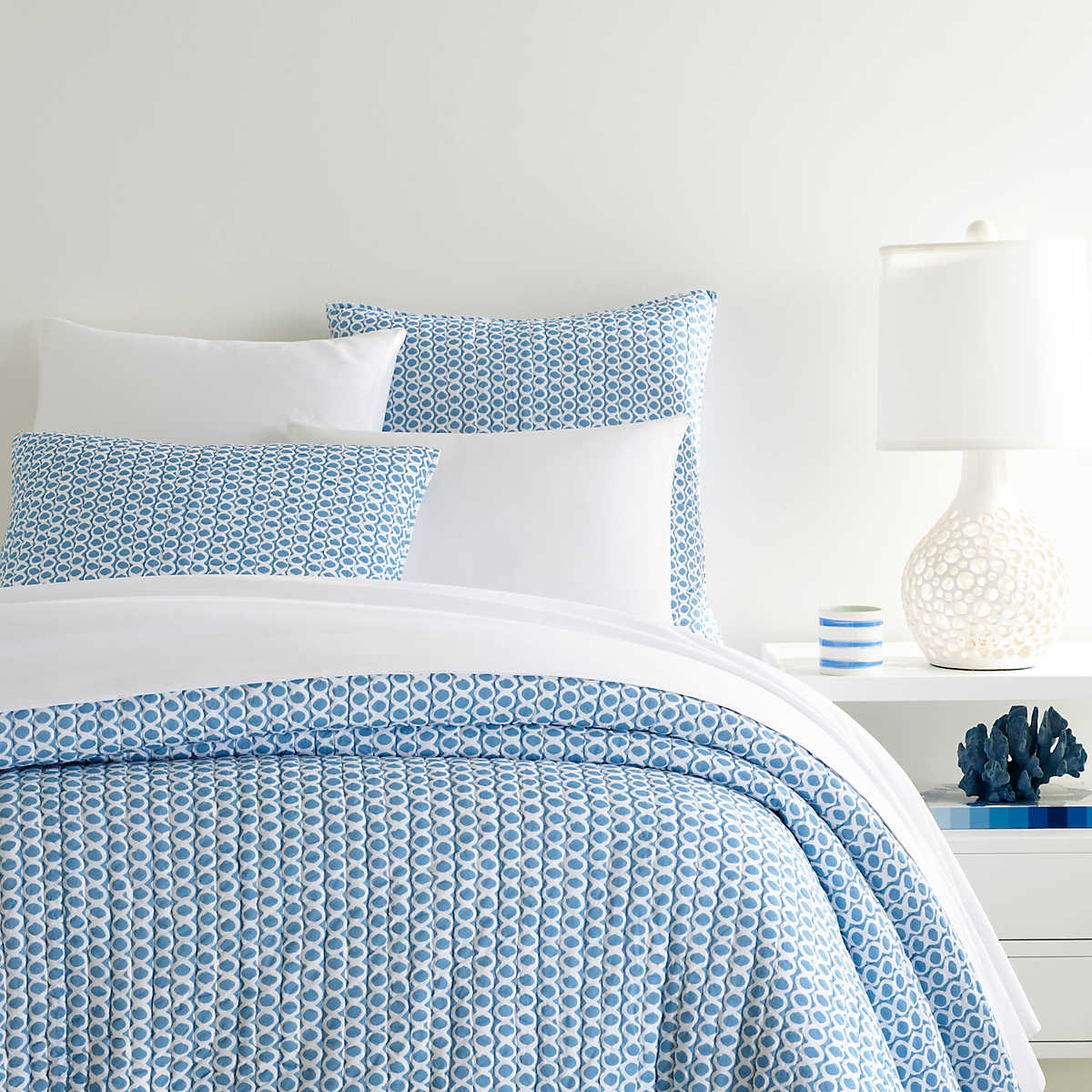 Tyler French Blue Quilt Pine Cone Hill