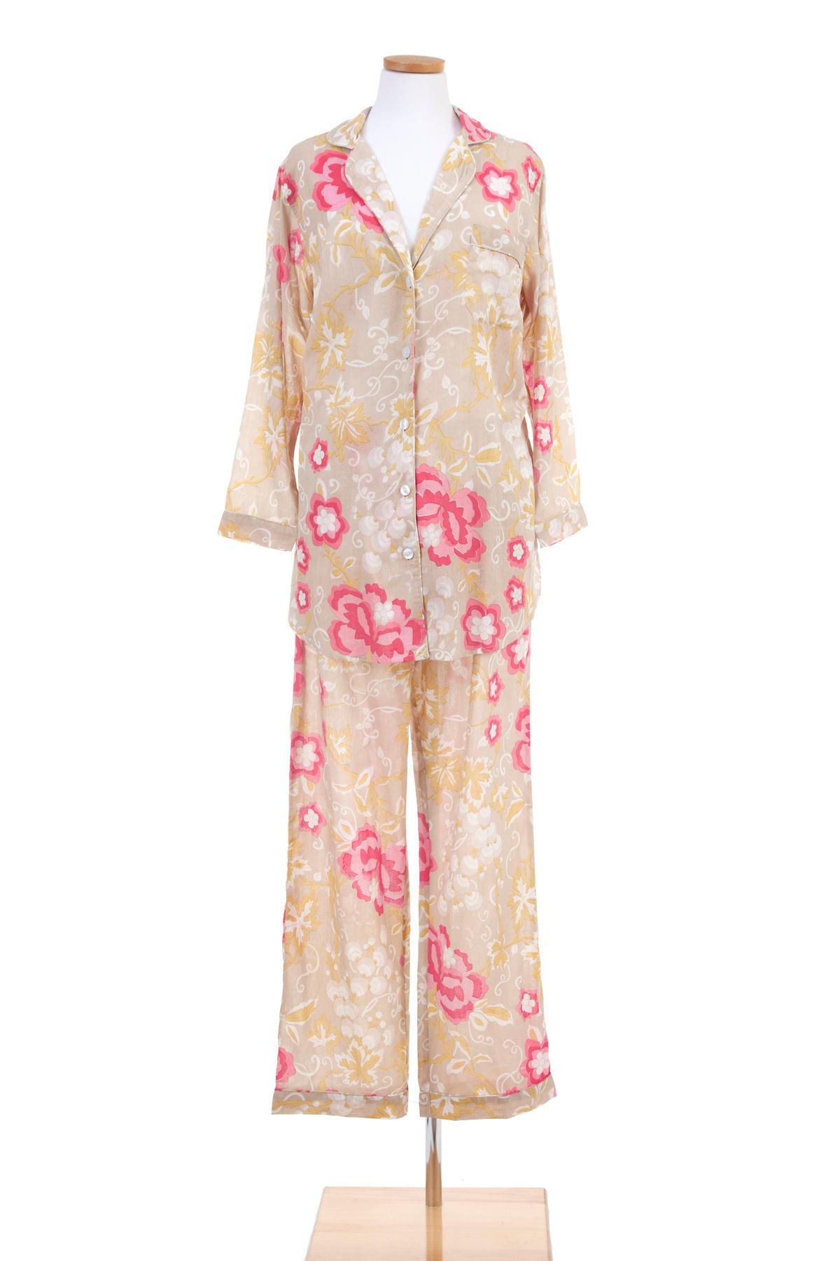 Ume Platinum Shirt Tail Pajama
