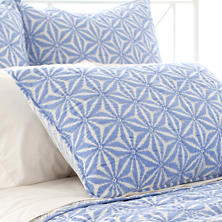 Varkala French Blue Quilted Sham