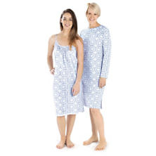 Veena Blue Crew Neck Nightdress