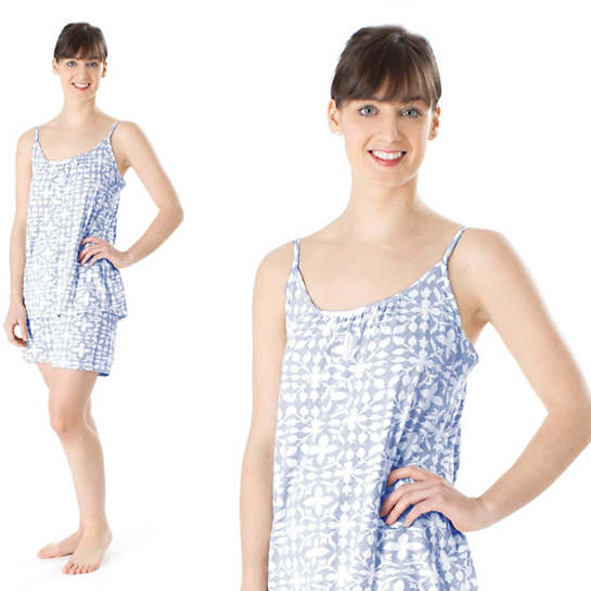 Veena Blue Tank Top