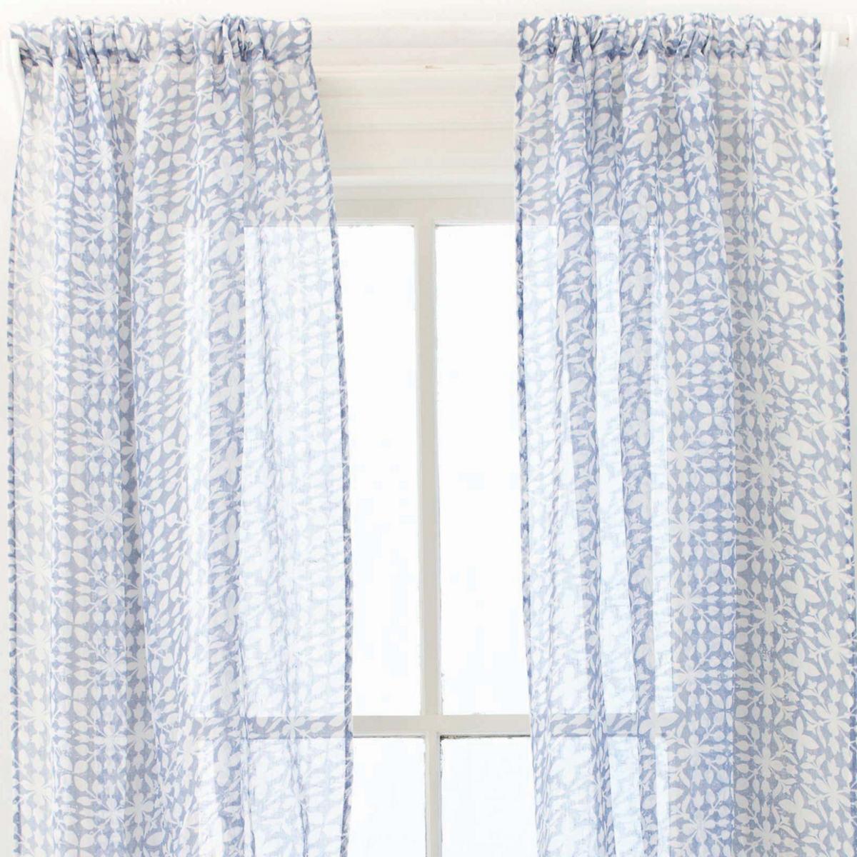 Veena Blue Window Panel
