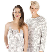 Veena Grey Crew Neck Nightdress