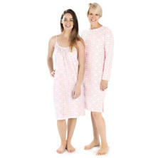 Veena Pink Crew Neck Nightdress