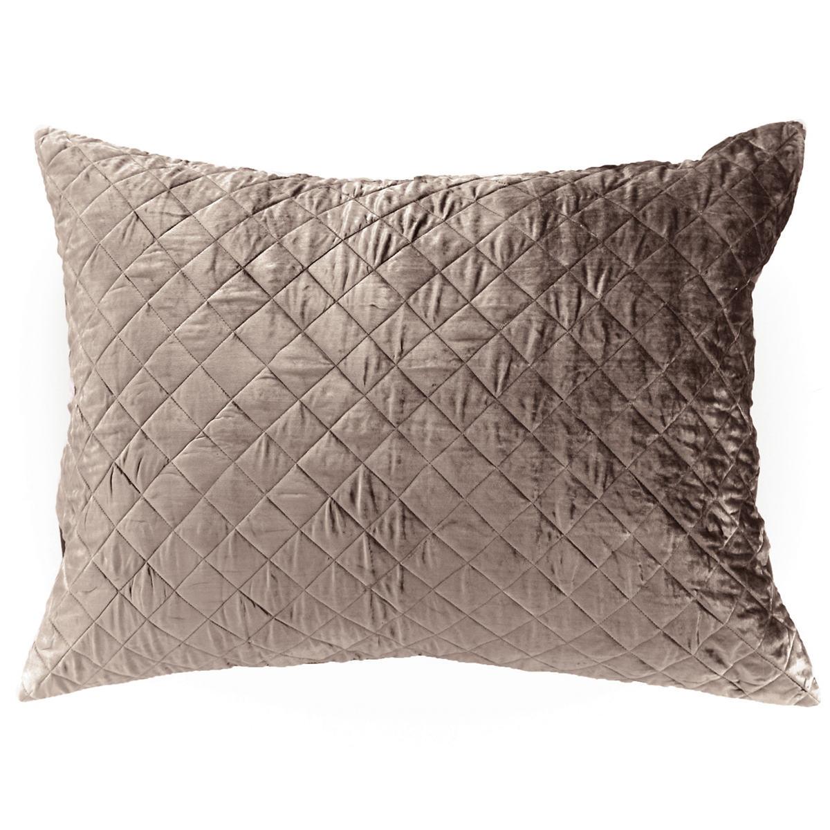 Velvet Diamond Java Continental Pillow