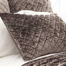 Velvet Diamond Java Quilted Sham