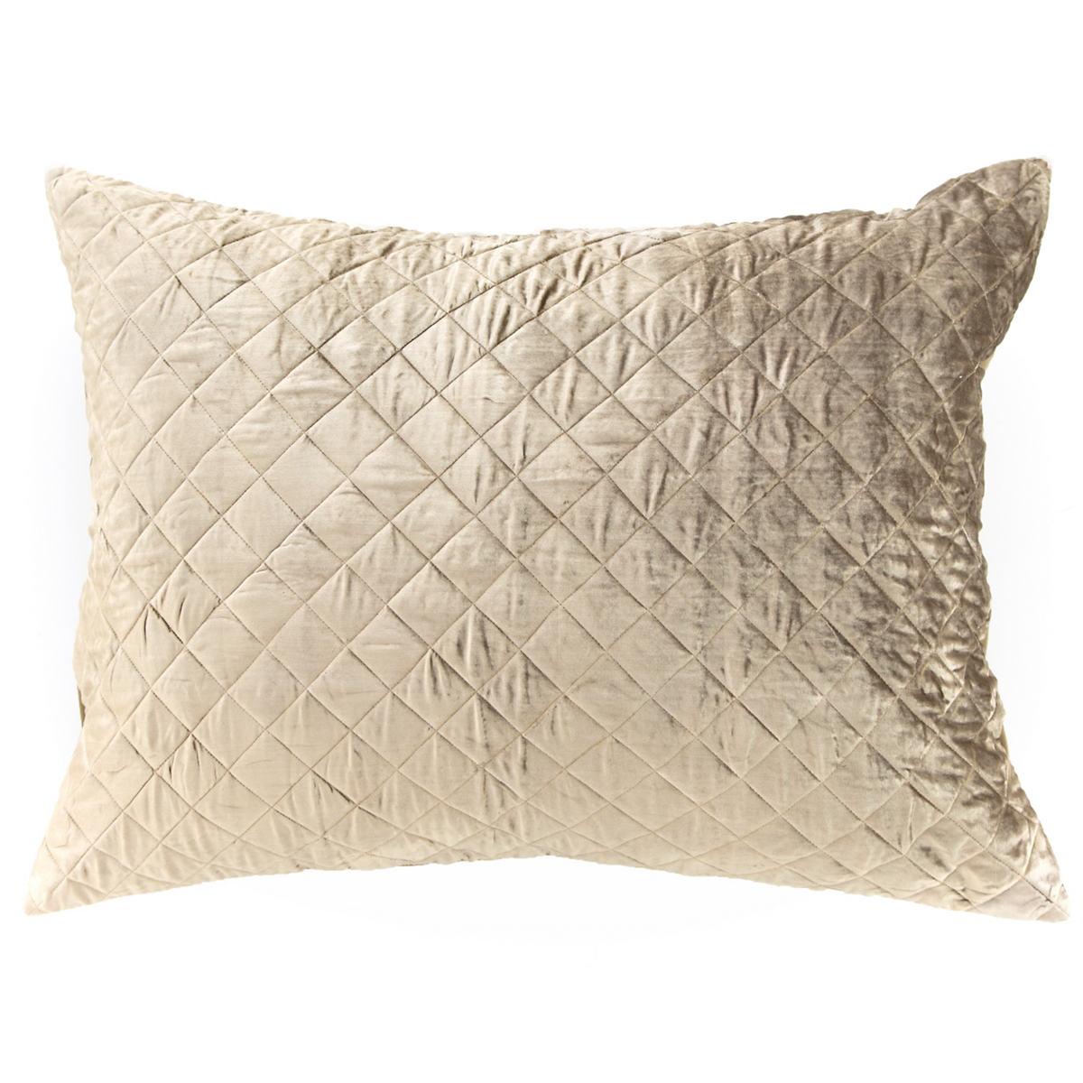 Velvet Diamond Moss Continental Pillow