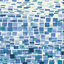 Villa Tile Blue Fabric