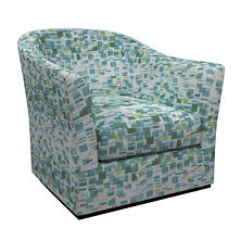 Villa Tile Green Thunderbird Swivel Chair
