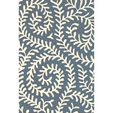 Vine Denim Tufted Wool Rug