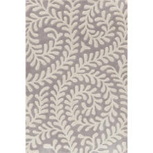 Vine Platinum Tufted/Carved Wool Rug