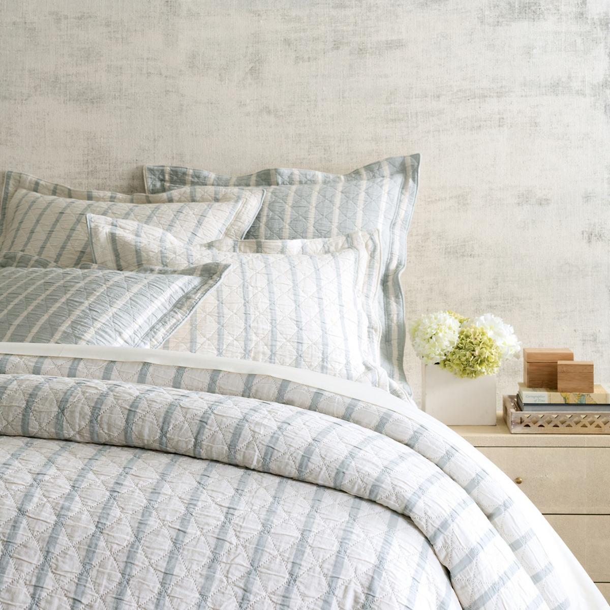 pine cone hill u003e bedding wainscott sky reversible matelass coverlet - Pine Cone Hill Bedding
