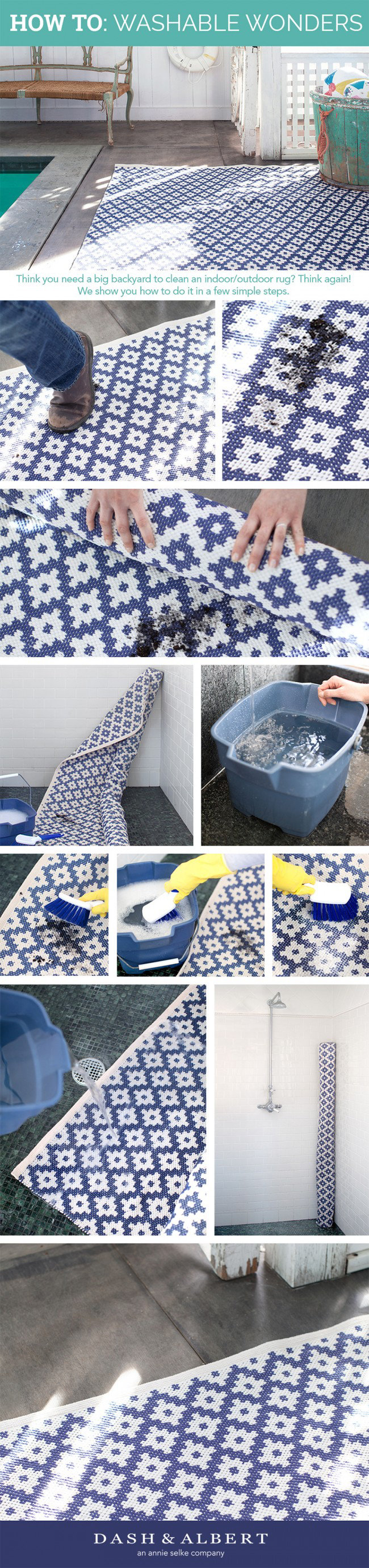 Super Easy To Clean An Indoor Outdoor Rug Even A Boy Like Our Samode Denim Shown Here Inside Your Shower Or Tub S How Apartment Dwelling