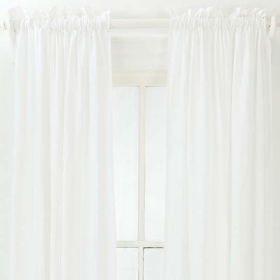Washed Linen White Window Panel