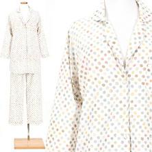 Watercolor Dots Melon Shirt Tail Pajama