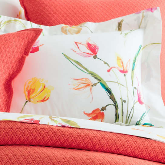 Watercolor Flowers Sham