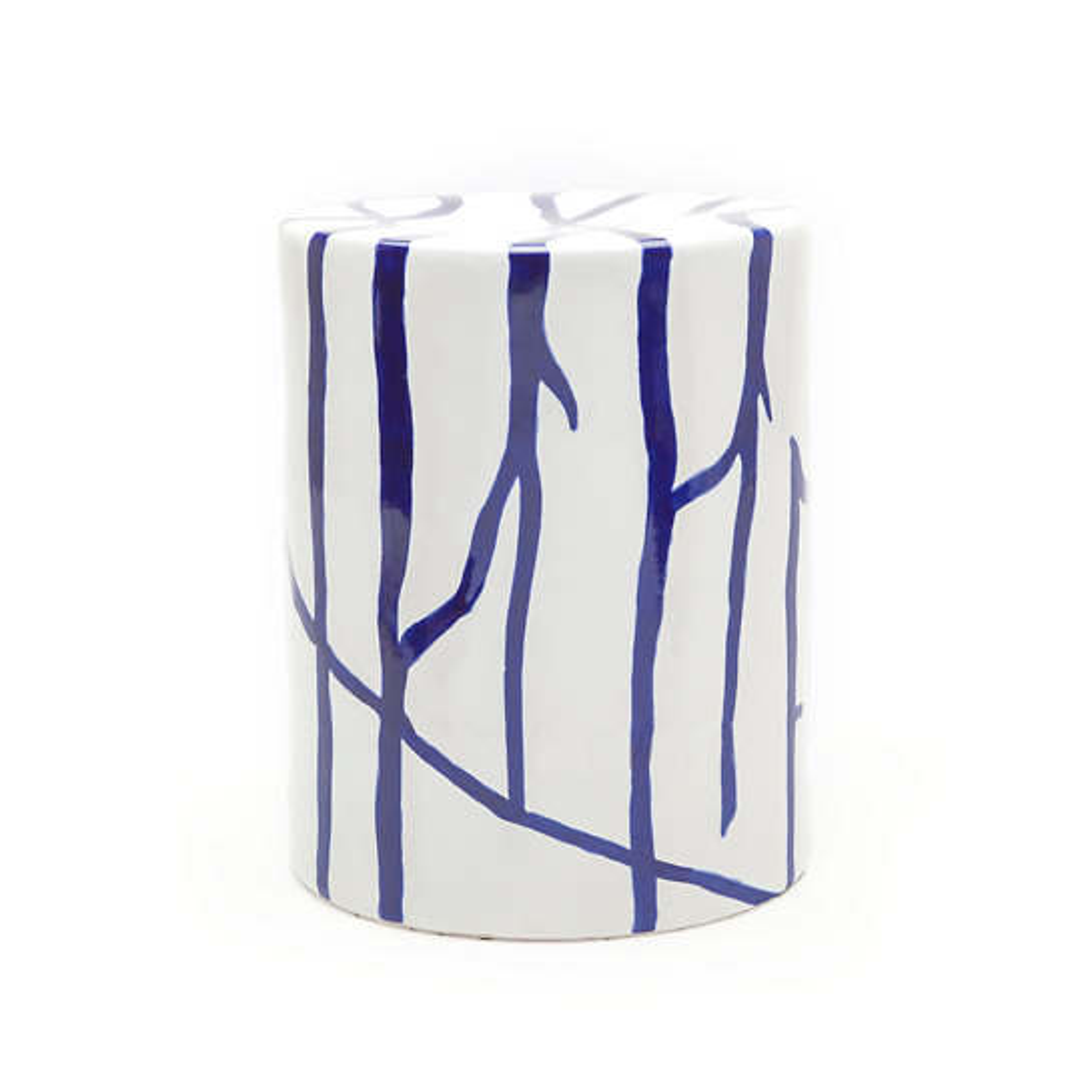 White/Blue Willow Stool