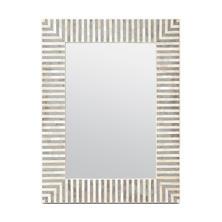 White/Gray Stripe Malena Mirror