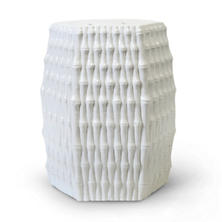 White Oasis Ceramic Garden Stool
