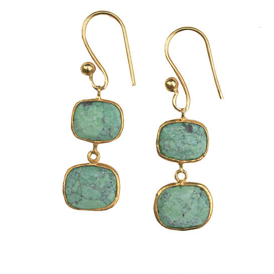 Whitten Green Turquoise Earrings