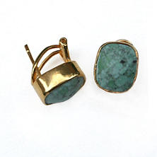 Whitten Green Turquoise Stud Earrings