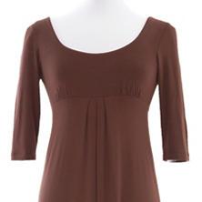 Willow Knit Chocolate Empire Waist Dress