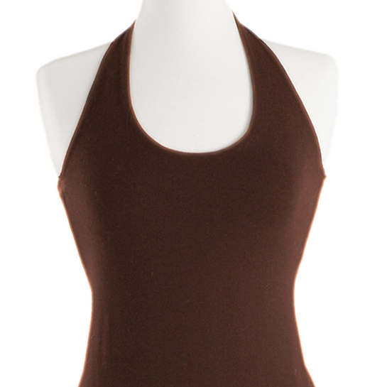 Willow Knit Chocolate Halter Dress