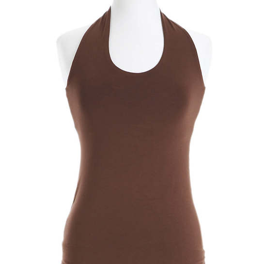 Willow Knit Chocolate Halter Top