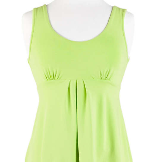 Willow Knit Empire Tank Top Wild Lime
