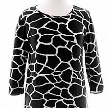 Willow Knit Giraffe Black/Ivory 3/4 Sleeve Top