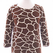 Willow Knit Giraffe Chocolate/Ivory 3/4 Sleeve Top