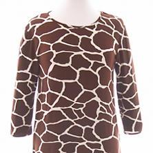 Willow Knit Giraffe Chocolate/Ivory 3/4 Sleeve Top