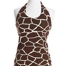Willow Knit Giraffe Chocolate/Ivory Halter Top