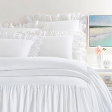 Wilton White Cotton Bedspread