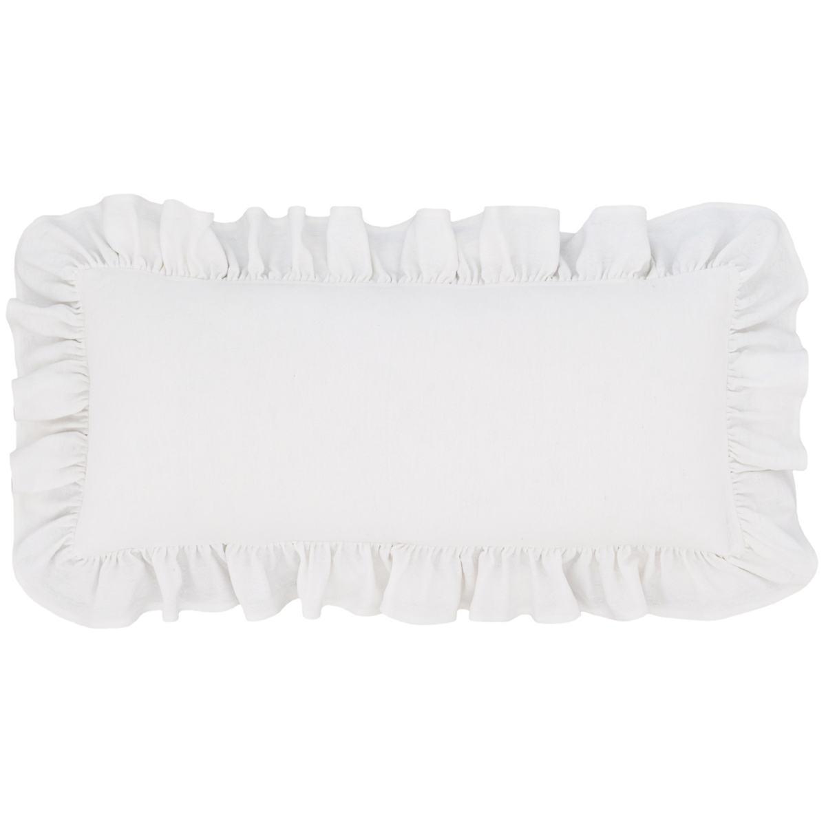 Wilton White Cotton Decorative Pillow