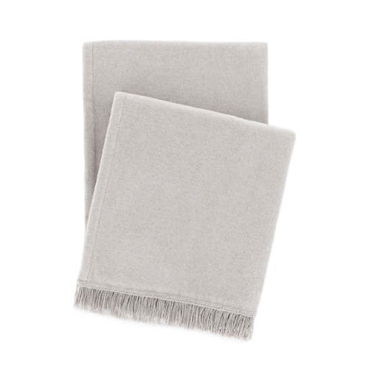 "Windsor Platinum Fringed Fleece Throw 50""x70"""