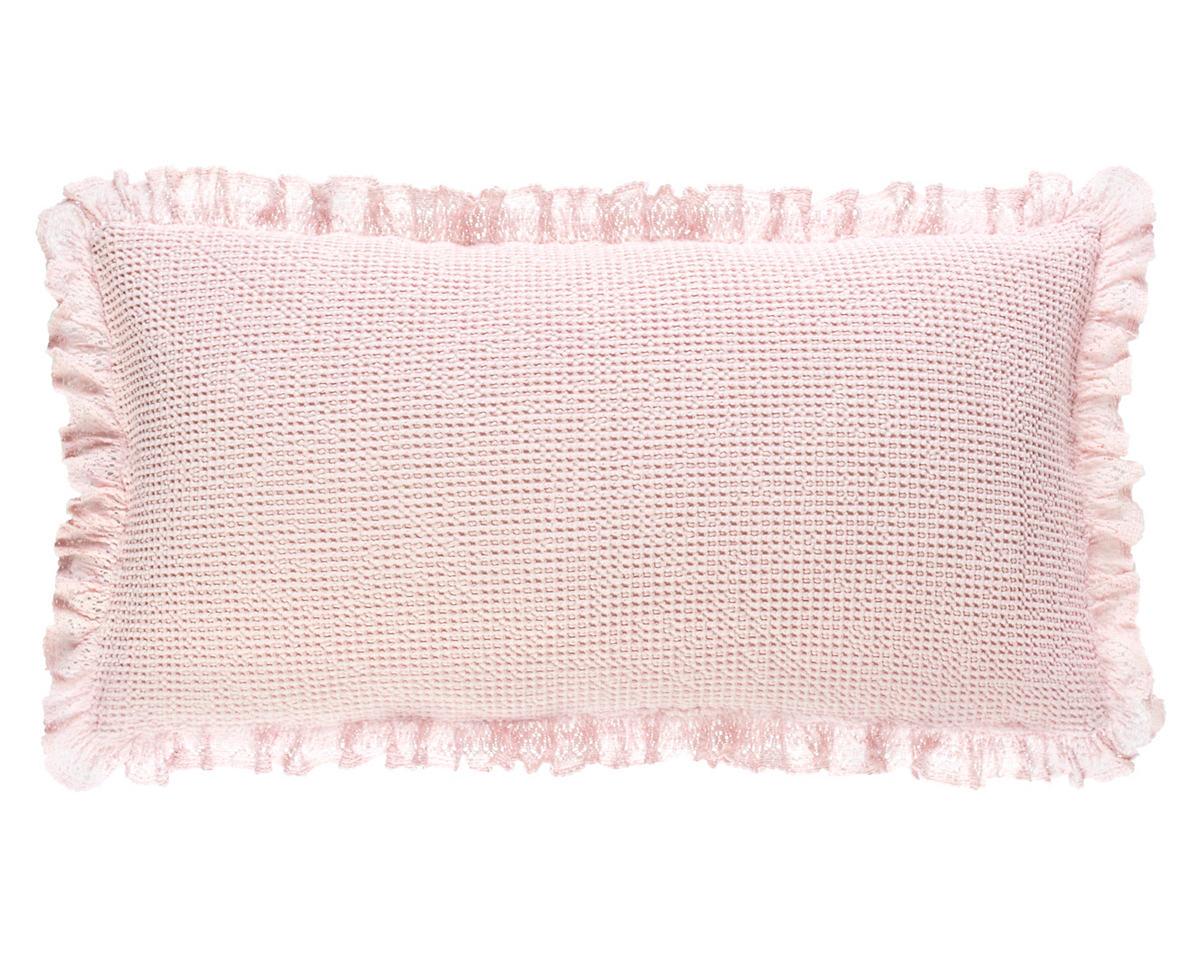 Wruffle Slipper Pink Matelassé Decorative Pillow