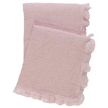 Wruffle Slipper Pink Matelassé Throw