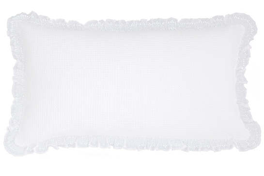 Wruffle White Matelassé Decorative Pillow