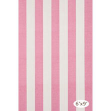 Yacht Stripe Pink/White Woven Cotton Rug