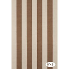 Yacht Stripe Stone Woven Cotton Rug