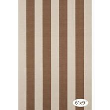 Yacht Stripe Stone Woven Cotton Rug