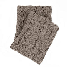 Yarn Bomb Knit Grey Throw